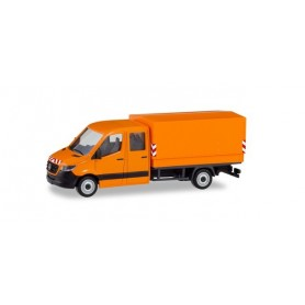 Herpa 095198 Mercedes-Benz Sprinter '18 double cab with canvas, municipal