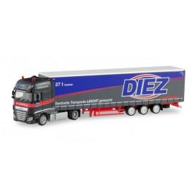 Herpa 311274 DAF XF SSC lowliner semitrailer 'Spedition Diez'