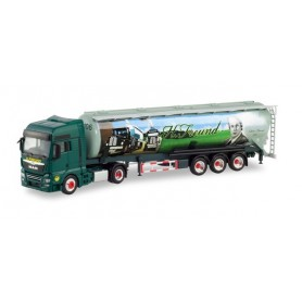 Herpa 311472 MAN TGX XXL bulk semitrailer 'Spedition Freund'