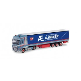Herpa 311502 DAF XF SSC facelift curtain semitrailer with tail Lifts 'A.Ebner' (A)