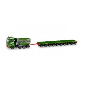 Herpa 311632 MAN TGX XXL Heavy-duty tractor with ballast platform and axle lines 'Kübler'