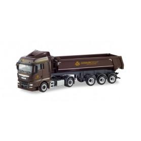 Herpa 311687 MAN TGX XLX dump semitrailer 'Ziegler Group'