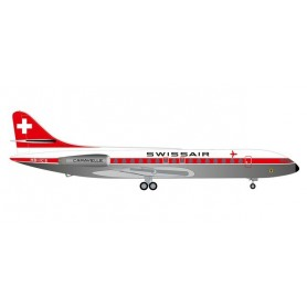 Herpa Wings 534062 Flygplan Swissair Sud Aviation SE-210 Caravelle 'Schwyz'