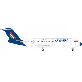 Herpa Wings 570763 Flygplan Malév Fokker 70