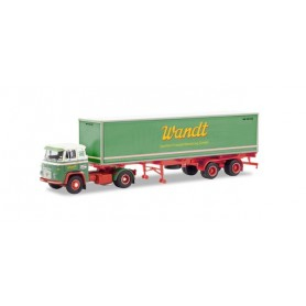 Herpa 87MBS026000 Scania Vabis LB 76 container semitrailer 'Spedition Wandt'
