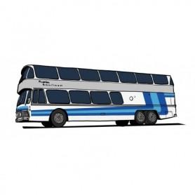 Brekina 58290 Buss Neoplan Skyliner NH 22 DD, silver med blå|blå , Starline