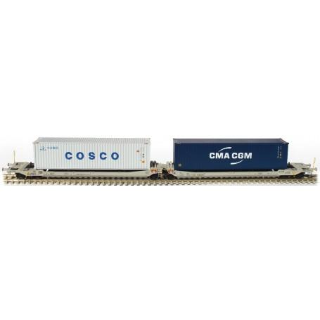 Rocky Rail 90365DC Trailervagn typ Sdggmrs AAE Cargo 'TX Logistik AG (TXL)'