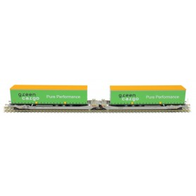 Rocky Rail 90328DC Trailervagn typ Sdggmrs AAE Cargo 'Green Cargo'