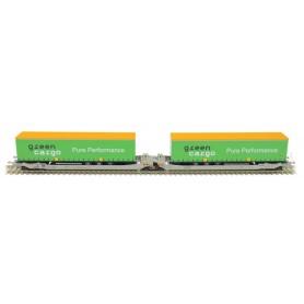 Rocky Rail 90328AC Trailervagn typ Sdggmrs AAE Cargo 'Green Cargo'