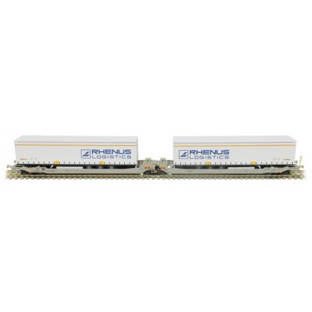 Rocky Rail 90332DC Trailervagn typ Sdggmrs AAE Cargo 'DB Schenker Rail'