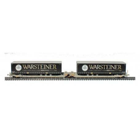 Rocky Rail 90334AC Trailervagn typ Sdggmrs AAE Cargo 'Warsteiner'