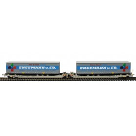Rocky Rail 90340DC Trailervagn typ Sdggmrs AAE Cargo 'TX Logistik AG (TXL)'