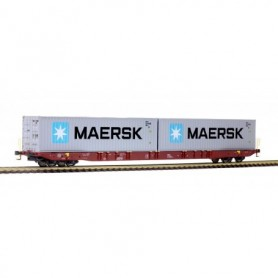 Rocky Rail 6010034 Containervagn typ Sggnss 'Metrans' med last av 'Maersk'