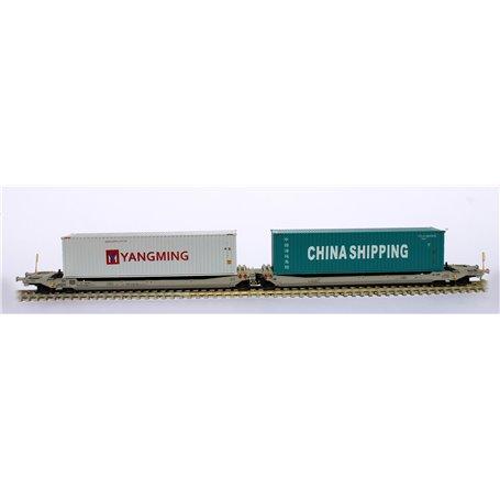 Rocky Rail 90371AC Trailervagn typ Sdggmrs AAE Cargo 'TX Logistik AG (TXL)'