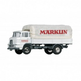 Märklin 18036 Krupp Front Wheel Steering Flatbed Truck with a 'Märklin Werksverkehr' | 'Märklin Factory Transport' Tarp Super...