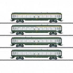 Märklin 40691 Vagnsset med 4 personvagnar 'Tin-Plate' typ SNCF