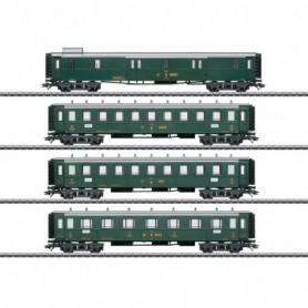 Märklin 42388 Vagnsset med 4 personvagnar 'Swiss Old-Timer' typ SBB|CFF|FFS