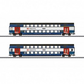 Märklin 43574 Zürich S-Bahn Bi-Level Car Set