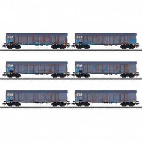 Märklin 47189 Wood Chips Transport High Side Gondola Set