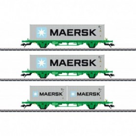 Märklin 47726 Type Lgns Container Flat Car Set