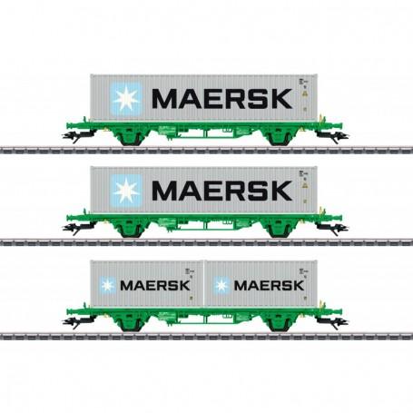 Märklin 47726 Type Lgns Container Flat Car Set
