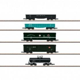 Märklin 82498 Vagnsset med 5 Amerikanska godsvagnar
