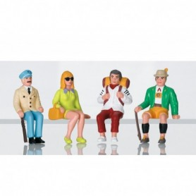 LGB 53007 Set of Seated Tourist Figures