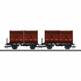 Trix 24175 2 Tubs Coking Coal Tub Transport Car Set