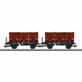 Trix 24177 3 Tubs Coking Coal Tub Transport Car Set