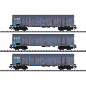 Trix 24367 Wood Chips Transport High Side Gondola Set