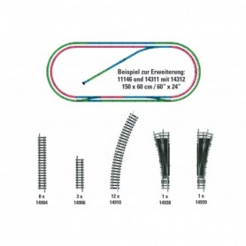 Trix 14312 H2 Track Extension Set