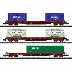 Trix 15072 Container Flat Car Set