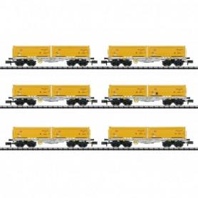 Trix 15075 Container Flat Car Set