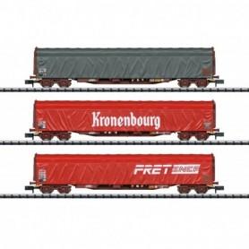 Trix 15115 Vagnsset med 3 godsvagnar Rilns typ SNCF