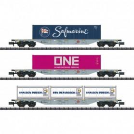 Trix 15228 Container Flat Car Set