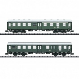 Trix 15409 Vagnsset med 2 personvagnar 'Umbauwagen' typ DB