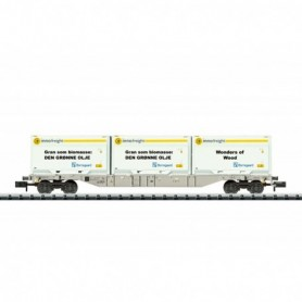 Trix 18408 Containervagn Sgnss typ AAE 'Innofreight'