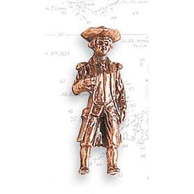 Artesania 8743 Figurer, sjömän, omålade, metall, höjd 27 mm, 2 st