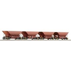 """Roco 66079 4 piece set: Mineral wagons """"Master Slave"""", LKAB"""