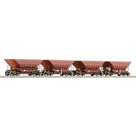 """Roco 66080 4 piece set: Mineral wagons """"Master Slave"""", LKAB"""