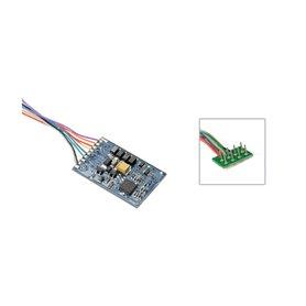 ESU 53611 LokPilot Standard DCC, 8 pole plug per NEM652, wire harness, 4 amplified outputs