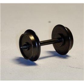 Tillig 210991 Hjulaxel AC, skivhjul med spetslager, 1 st, längd 24,5 mm, diameter 10,6 mm