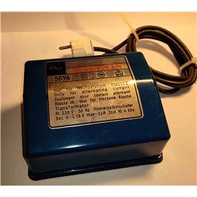 Märklin 6215 Transformator 6215, primär 220V 50Hz, 50VA