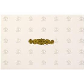 Amati 5352.04 Dekoration, metall, mått 25 x 6 mm, 10 st