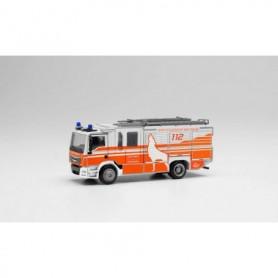 Herpa 095310 MAN TGM Ziegler Z-cab fire truck 'Fire Department Wolfsburg'