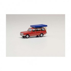 Herpa 420549 Wartburg 353 `66 Tourist red, with Roof tent