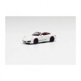 Herpa 420556 Porsche 911 Carrera 2 Coupé, white, with black rims and Porsche lettering