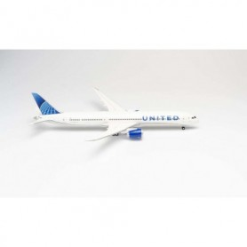 Herpa Wings 570848 Flygplan United Airlines Boeing 787-10 Dreamliner - new 2019 colors - N12010