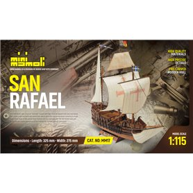 Mamoli MM17 San Rafael - Wooden model kit with pre-carved hull