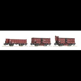 Roco 76060 Vagnsset med 3 godsvagnar typ K.P.E.V